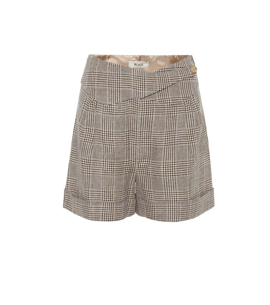 Short Basque en lin et laine