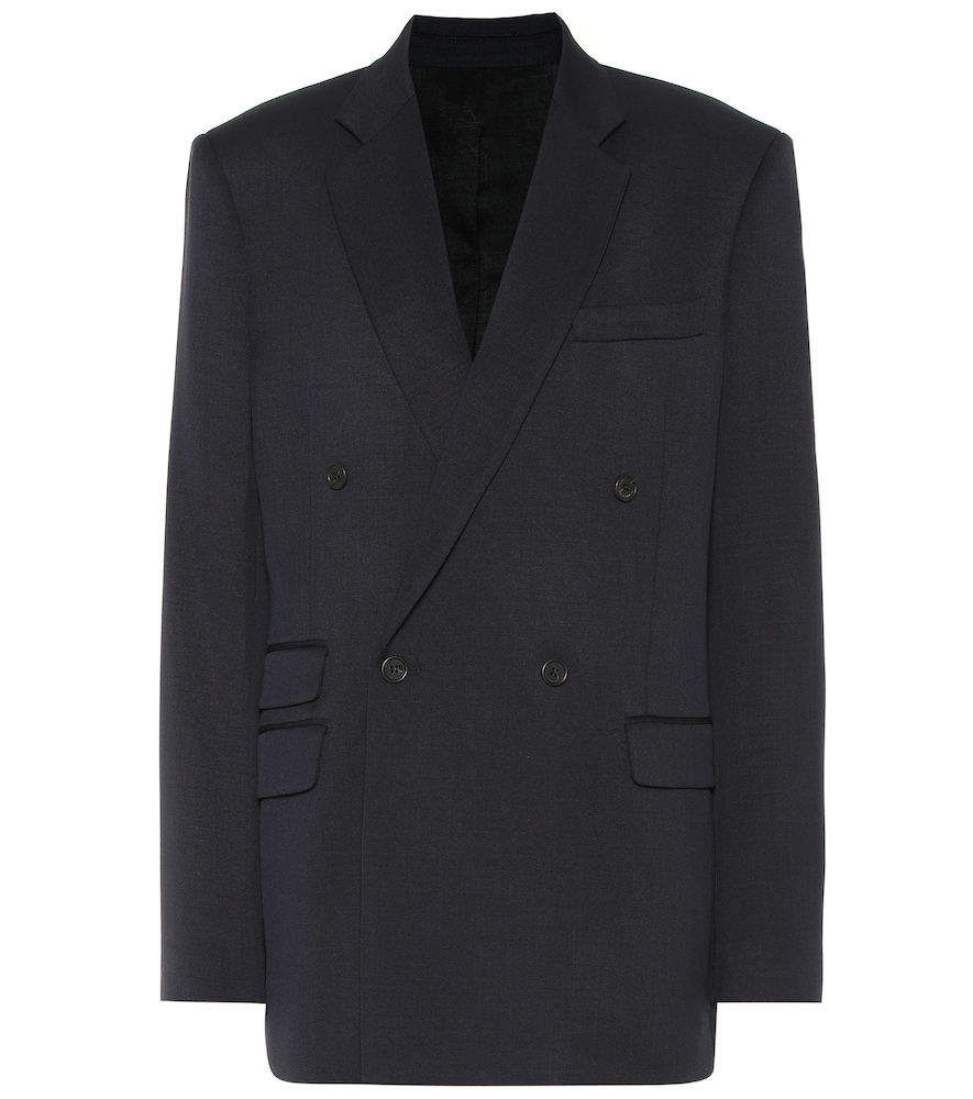 Wool twill double-breasted blazer by Stella McCartney