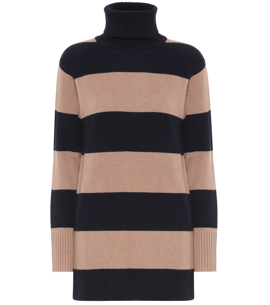 Max Mara NASTRO STRIPED WOOL AND CASHMERE SWEATER