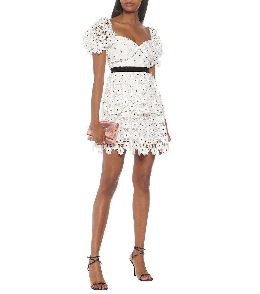 Daisy guipure-lace minidress by Self-Portrait