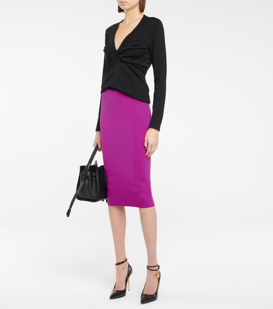 TOM FORD Silks CASHMERE AND SILK TOP