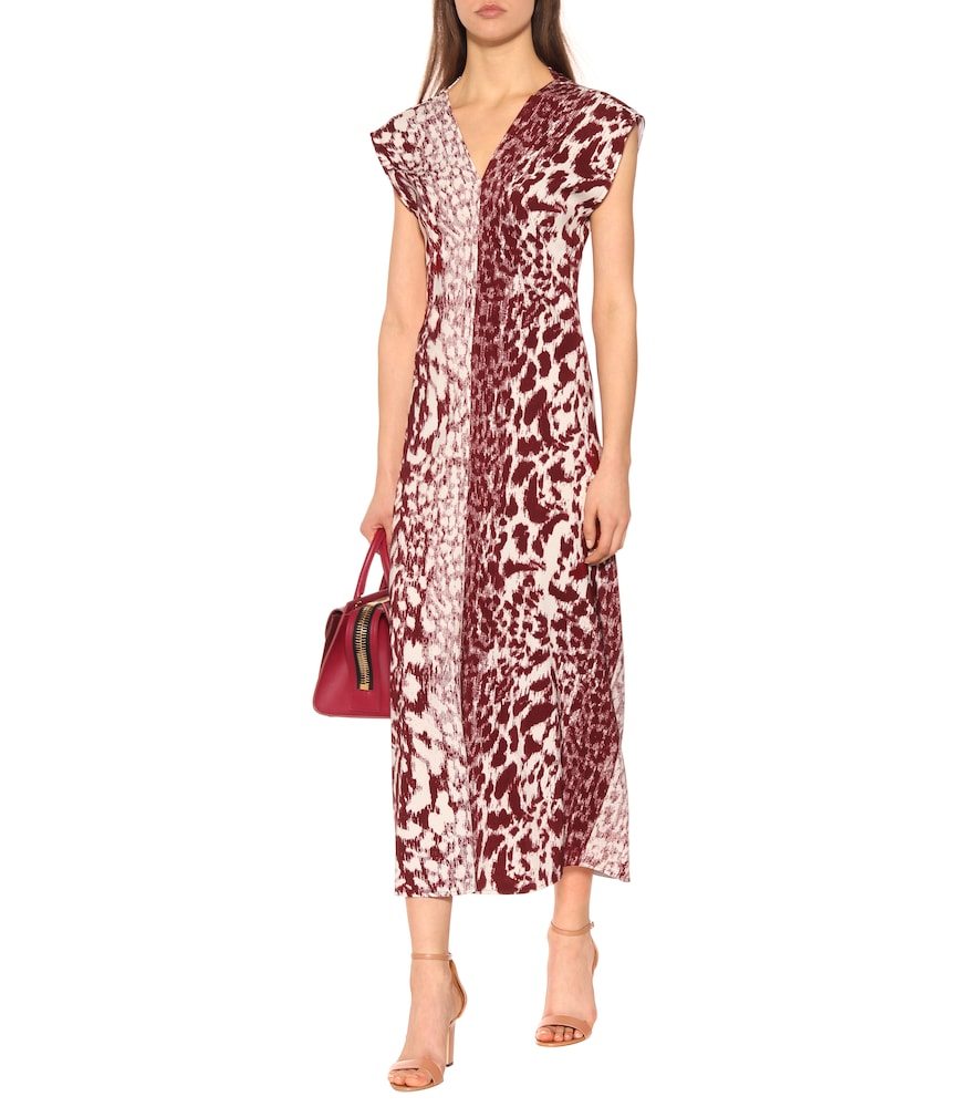 Printed cady midi dress by Victoria Beckham