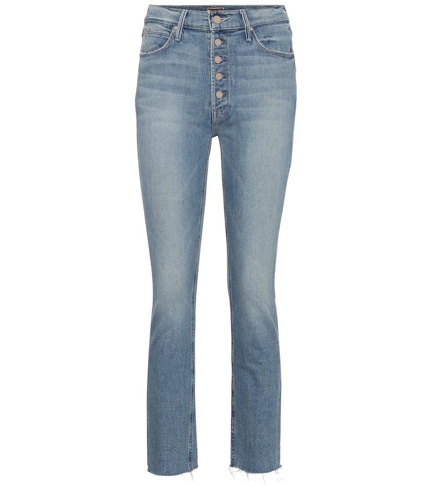 MOTHER PIXIE DAZZLER HIGH-RISE STRAIGHT JEANS