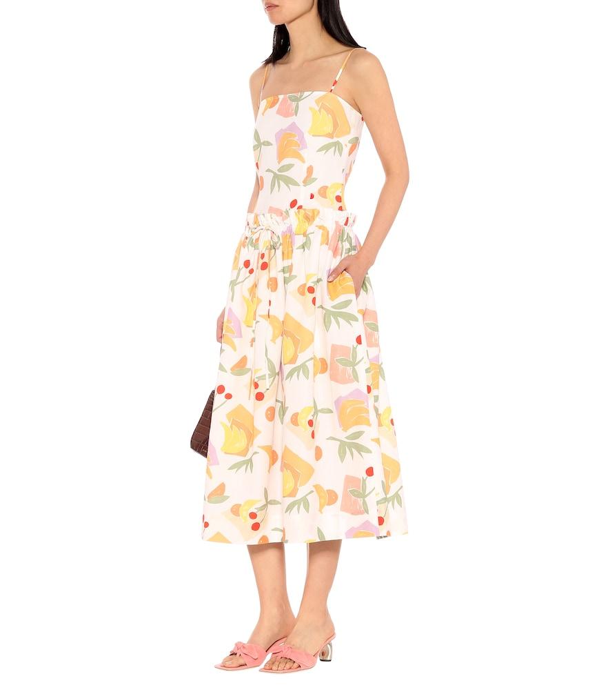 Leah printed cotton-blend dress by Rejina Pyo