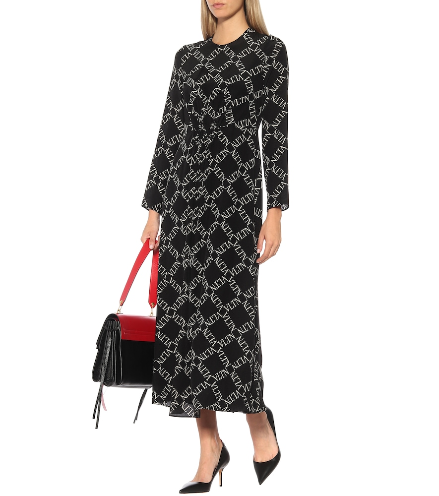 VLTN silk midi dress by Valentino