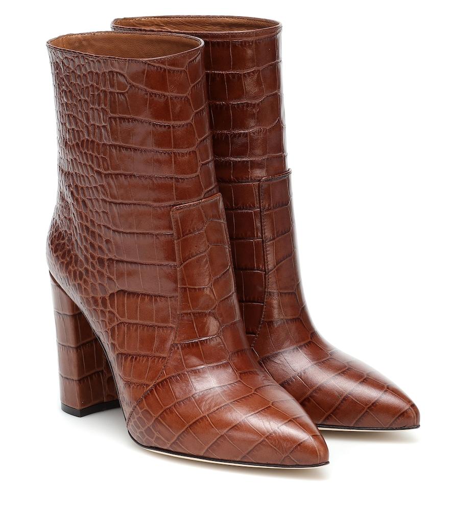 Bottines en cuir embossé - Paris Texas - Modalova