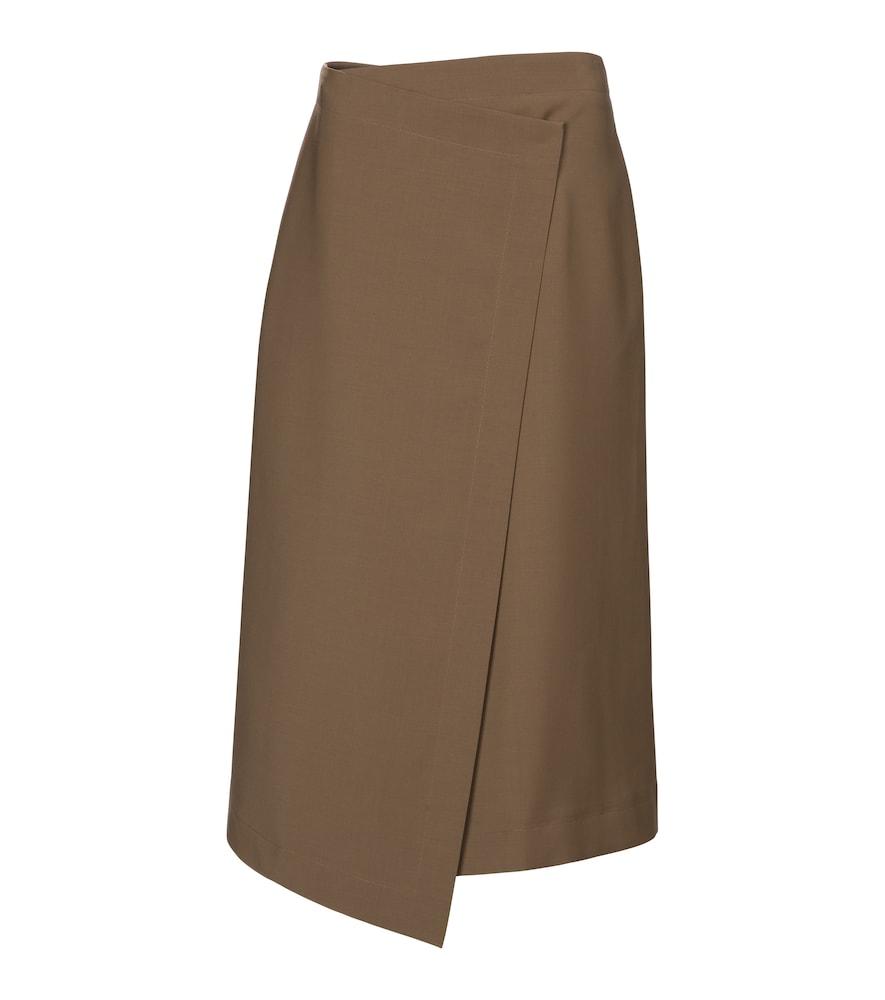 Hayden asymmetric midi skirt