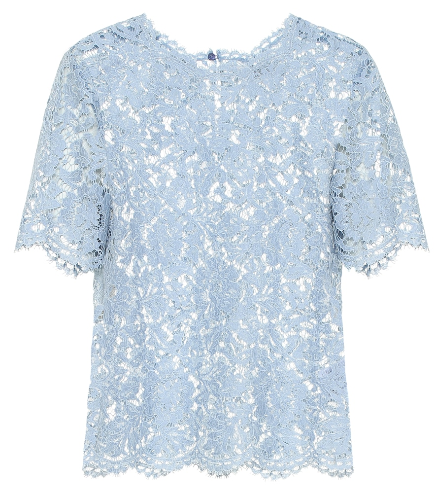 VALENTINO | Cotton-Blend Lace Top | Goxip
