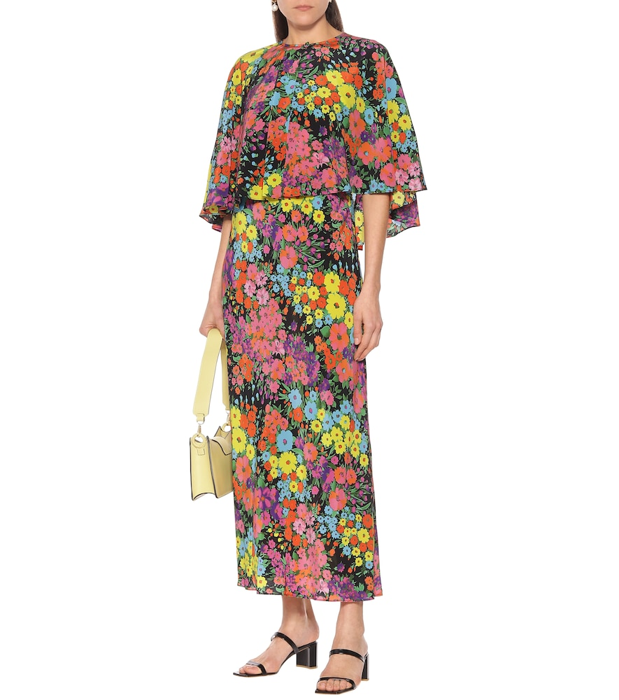 Exclusive to Mytheresa - Floral silk maxi dress by Les Rêveries