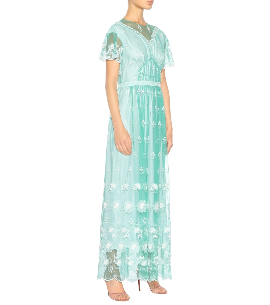Embroidered tulle dress by Burberry