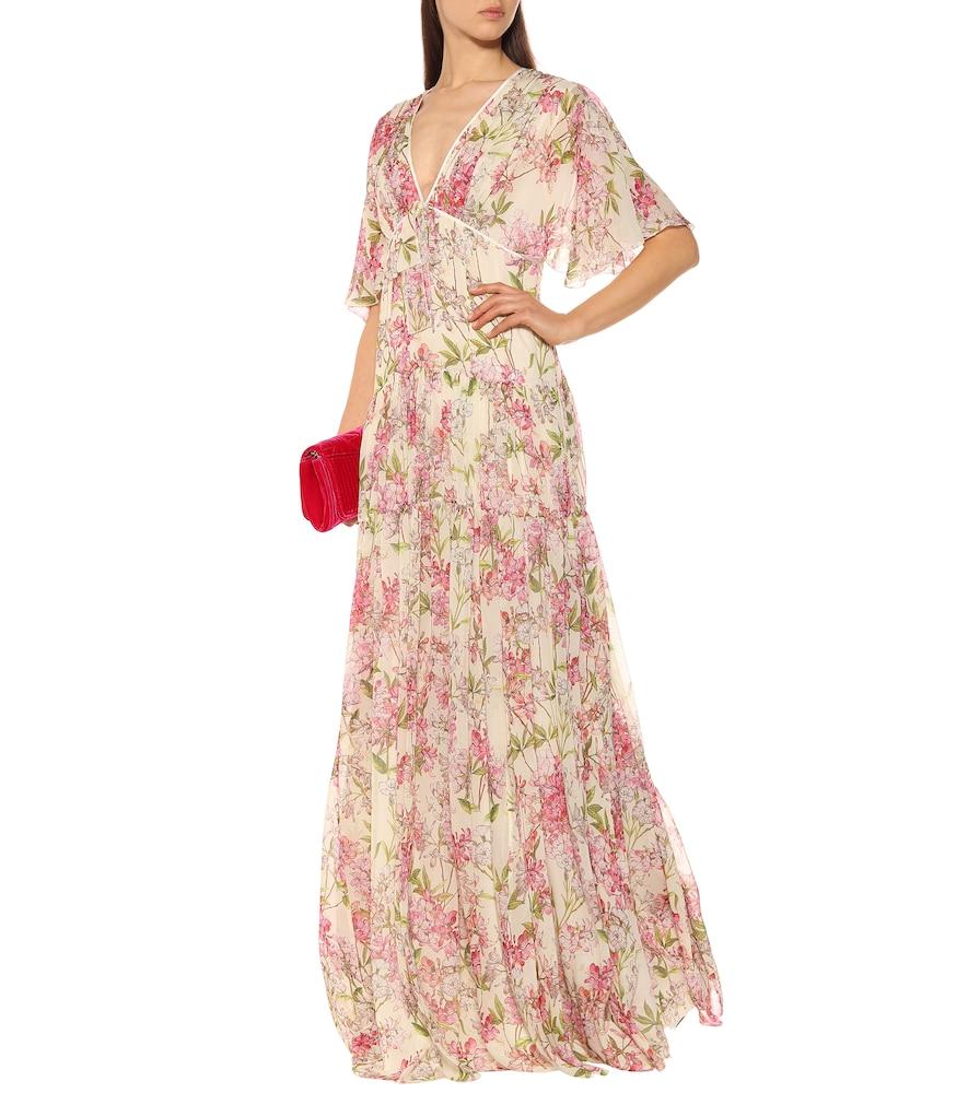 Tiered floral silk maxi dress by Giambattista Valli
