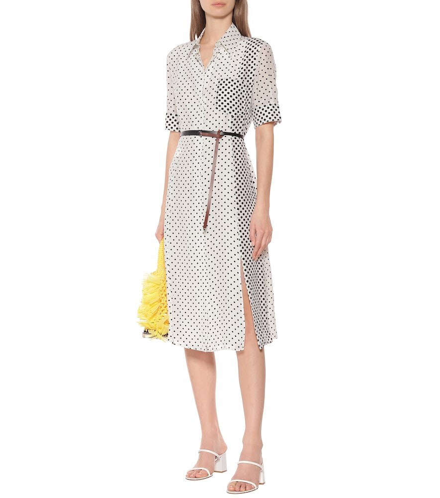Kieran polka-dot silk shirt dress by Altuzarra