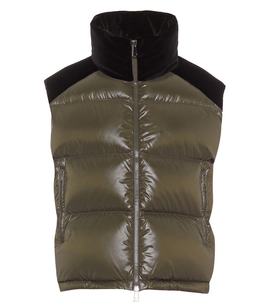 Exclusive to Mytheresa - Segal velvet and down vest