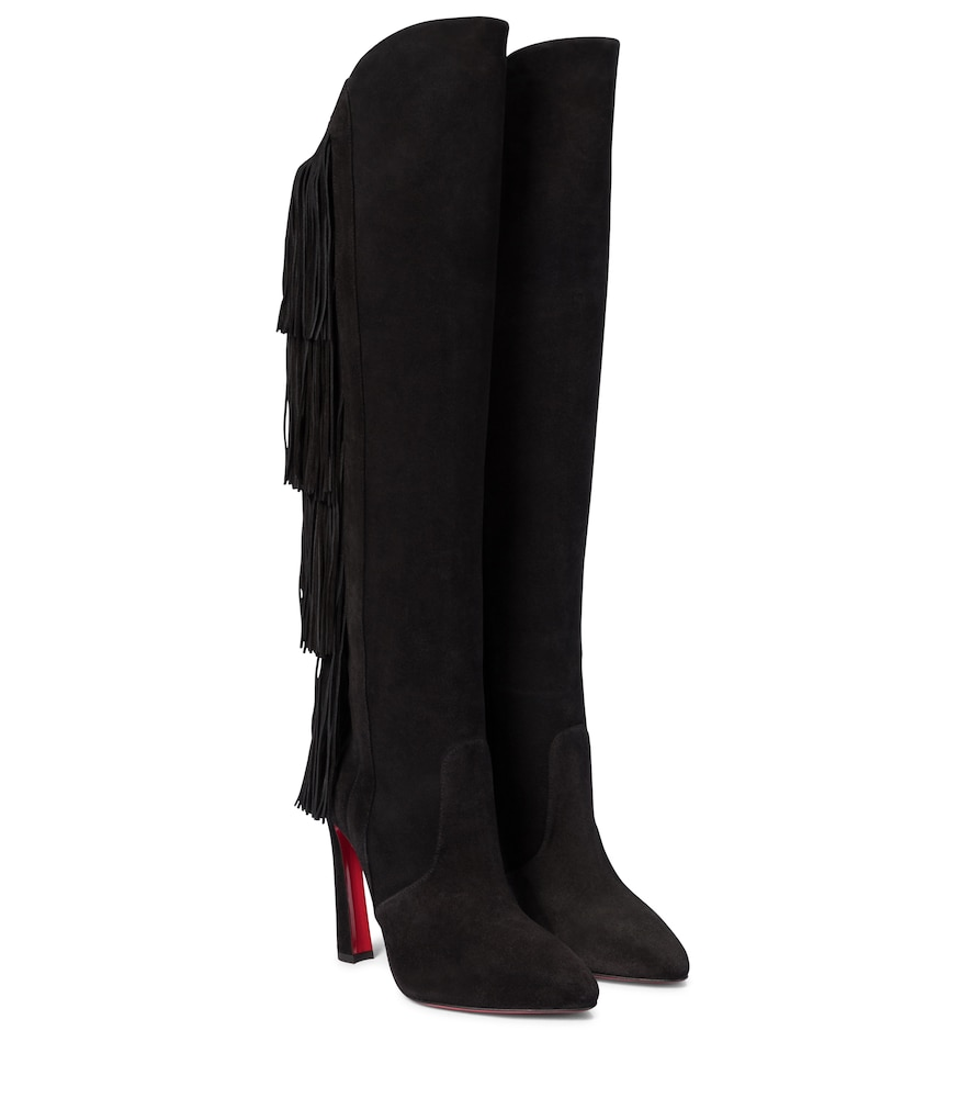 Lionne 100 knee-high suede boots