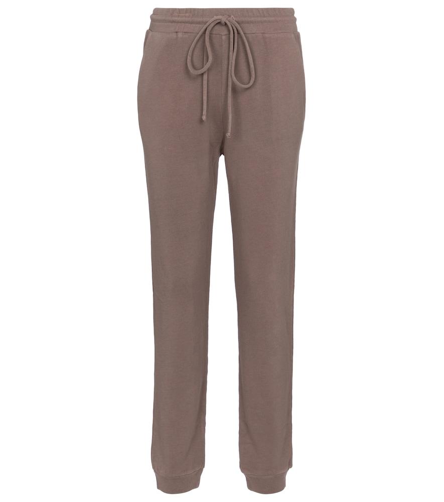 Cotton-blend terry sweatpants