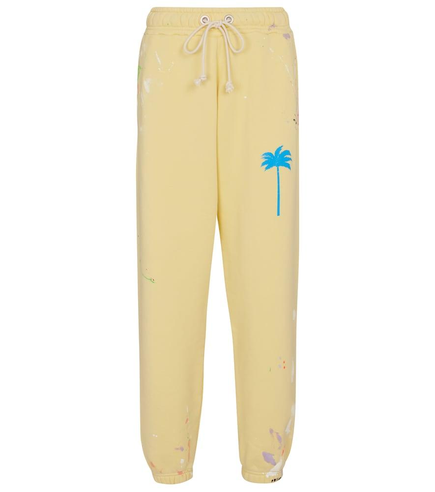Palm Angels Pants PRINTED COTTON JERSEY SWEATPANTS