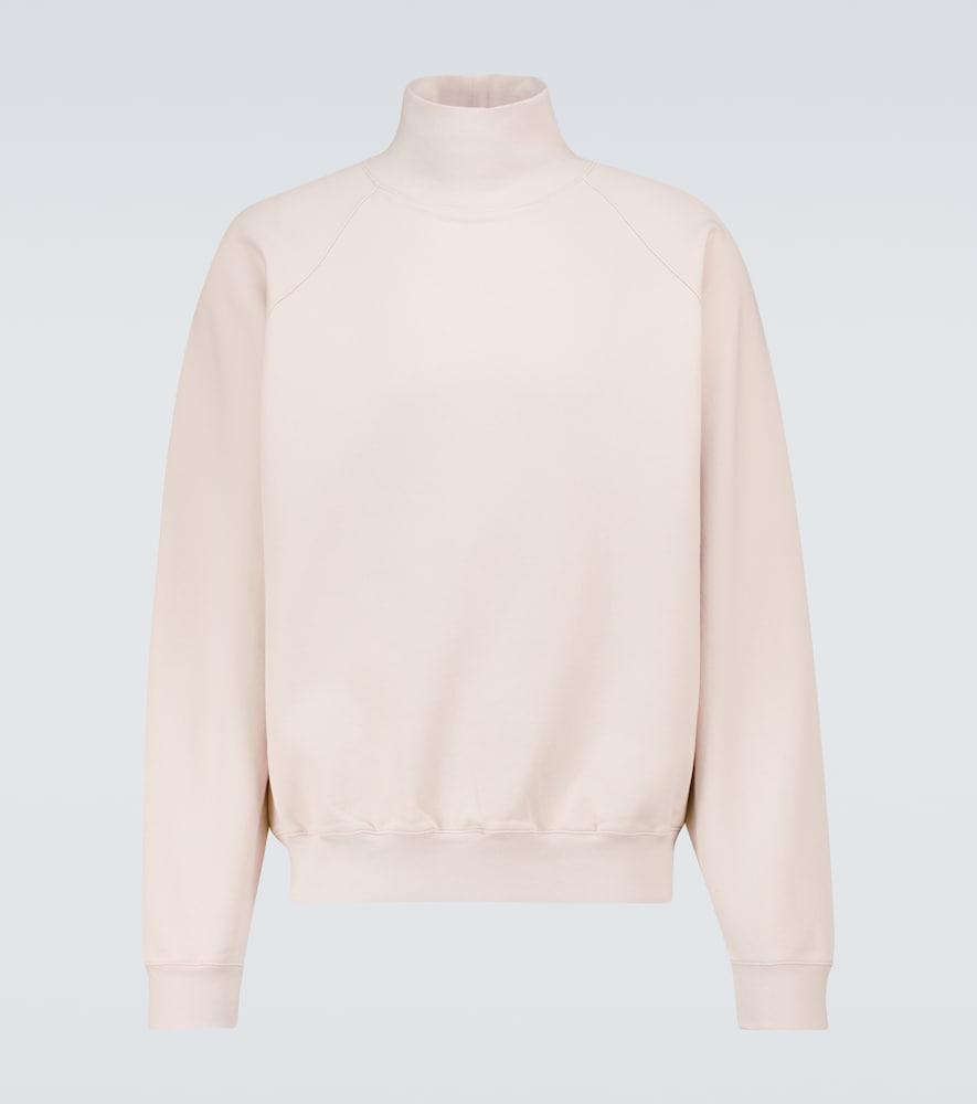 Super Soft cotton mock-neck sweater