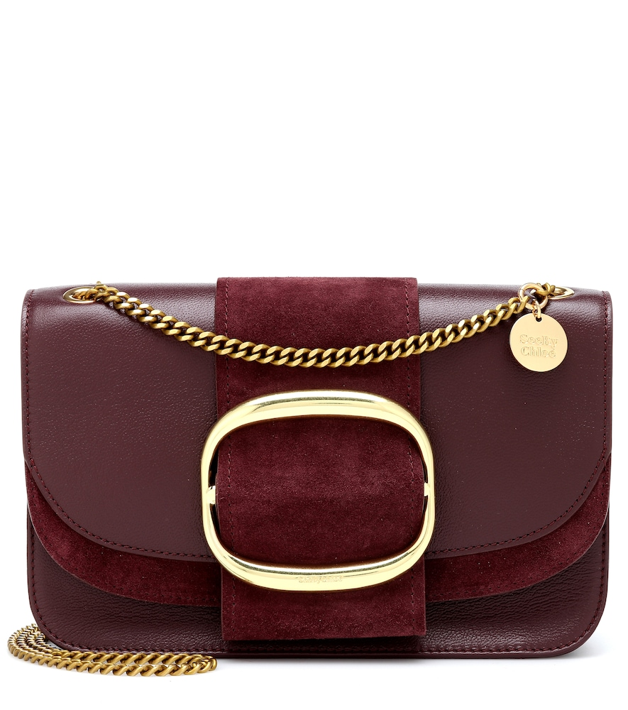 SEE BY CHLOÉ | Hopper Medium Leather Shoulder Bag | Goxip