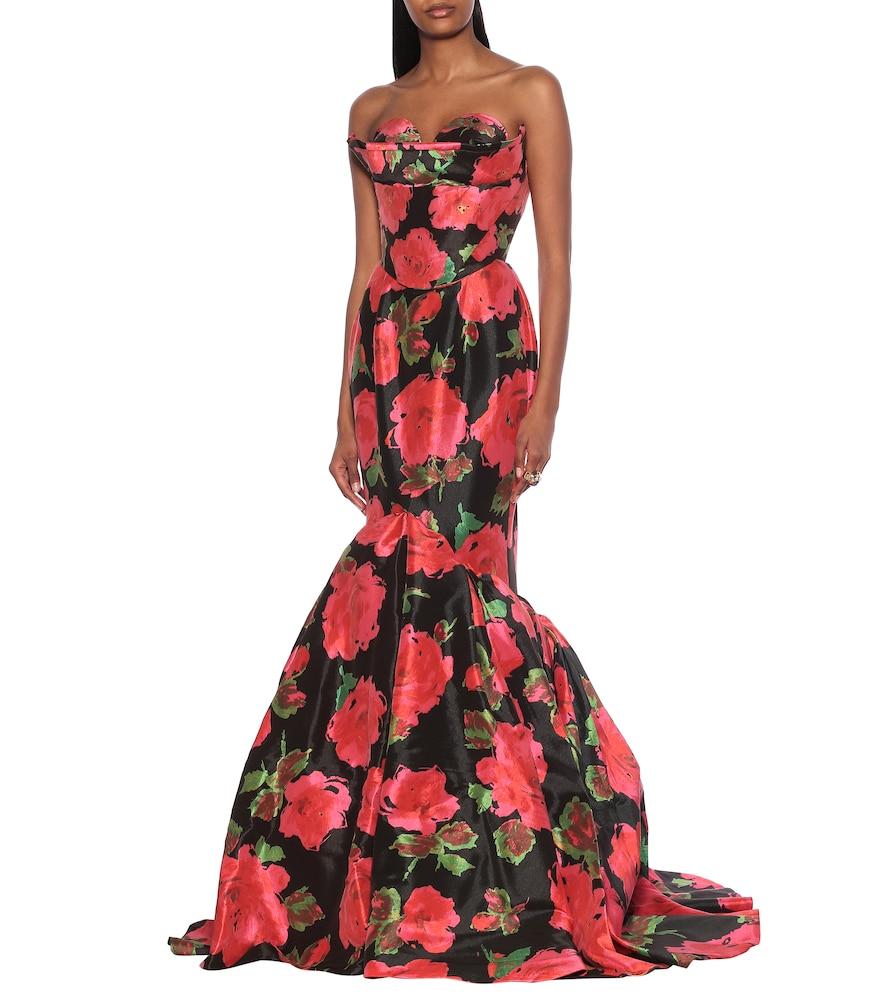 Floral taffeta gown by Richard Quinn