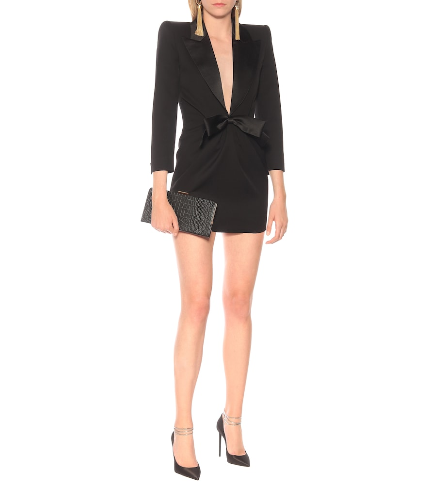 Wool-crêpe tuxedo minidress by Saint Laurent
