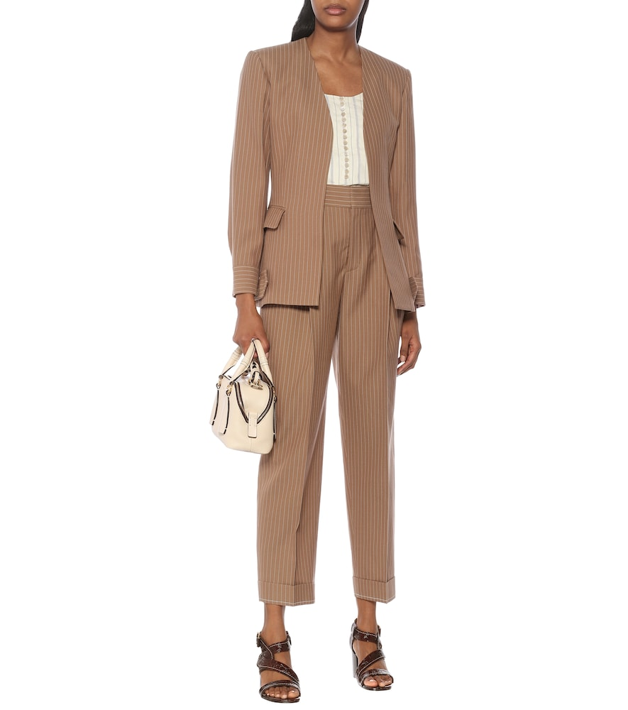 Pinstripe virgin wool blazer by Chloé