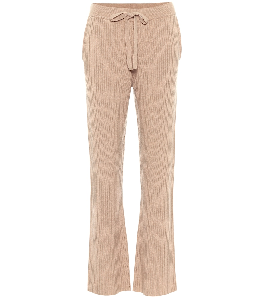Dorothee Schumacher DECONSTRUCTED LOOK WOOL AND CASHMERE-BLEND TRACKPANTS