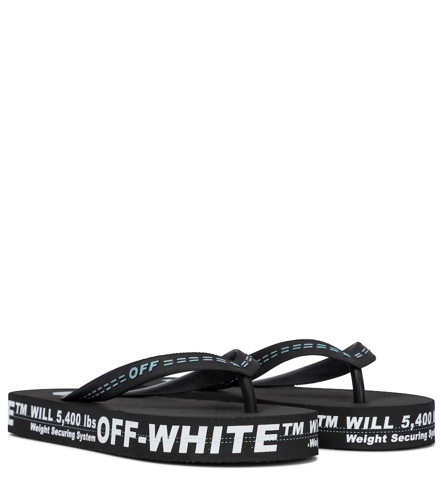 Off-White Flats EXCLUSIVE TO MYTHERESA - LOGO RUBBER THONG SANDALS