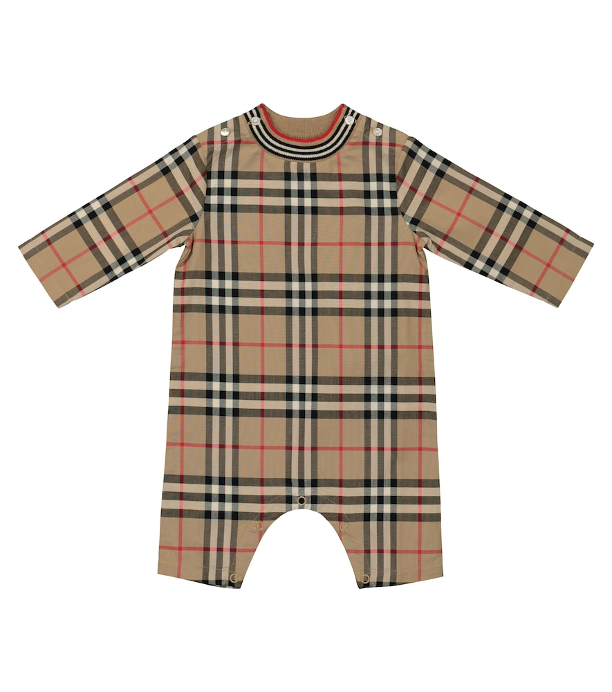 Burberry BABY VINTAGE CHECK COTTON ONESIE