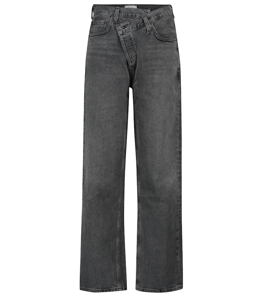 Criss Cross high-rise straight jeans