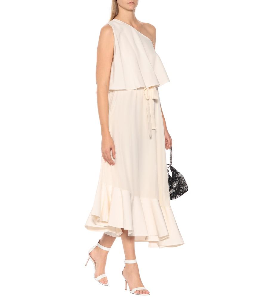 One-shoulder silk midi dress by Stella McCartney