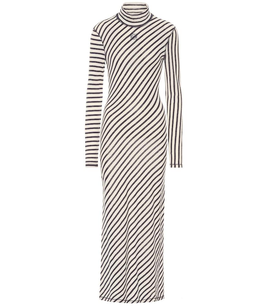Robe rayée en coton - Loewe - Modalova