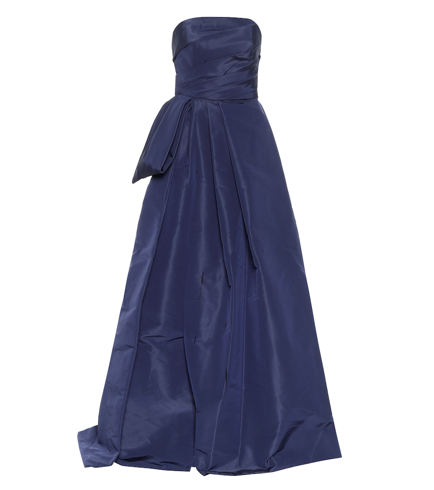 Strapless silk-faille gown by Monique Lhuillier