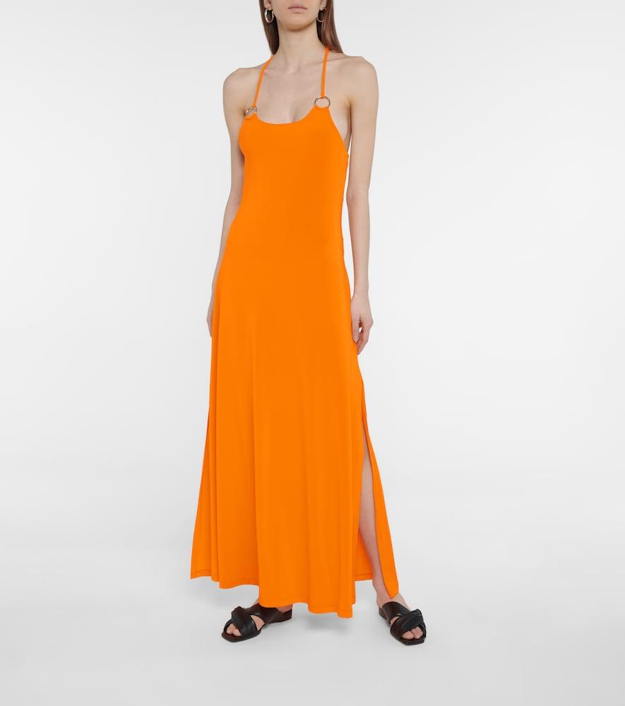 MAX MARA Maxi dresses CREMONA STRETCH-JERSEY MAXI DRESS