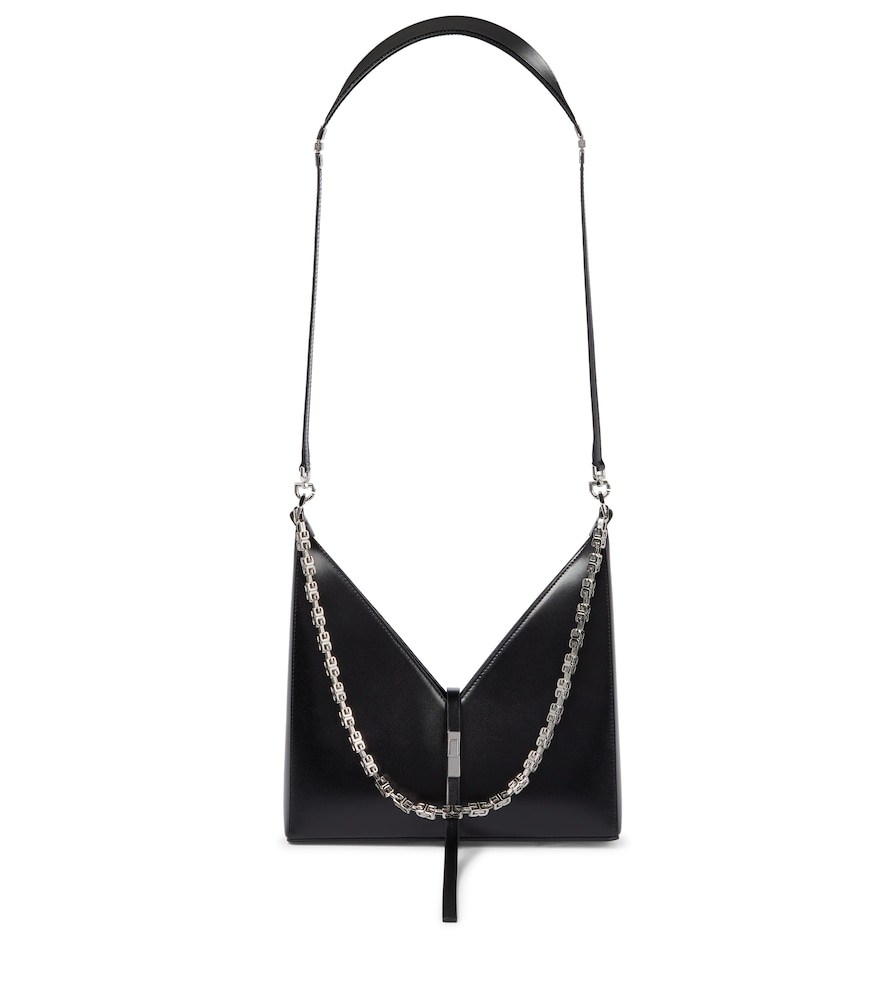 Givenchy Small Cutout Shoulder Bag In Box Leather With Chain In Black