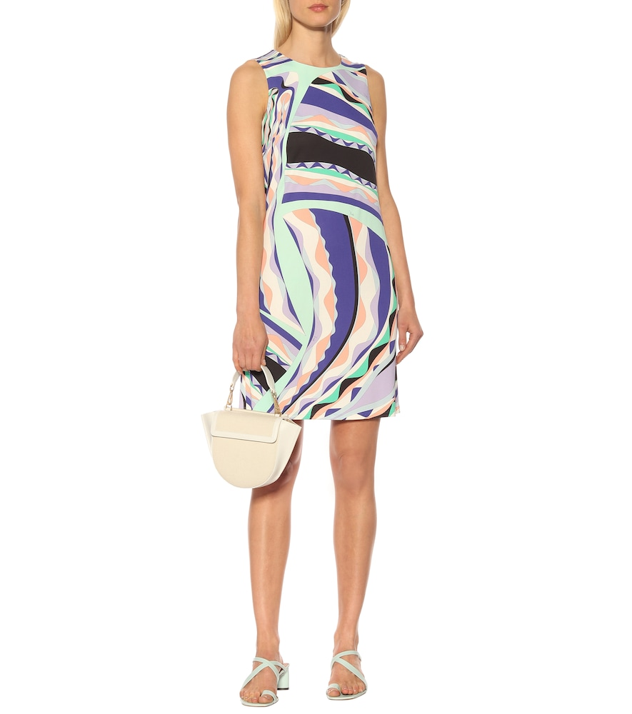 Printed silk-blend shift dress by Emilio Pucci