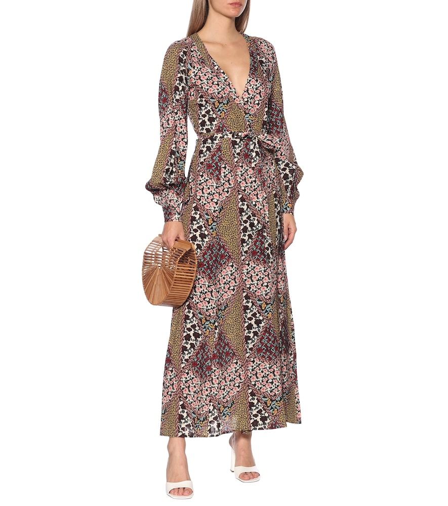 Kate floral maxi wrap dress by The Upside