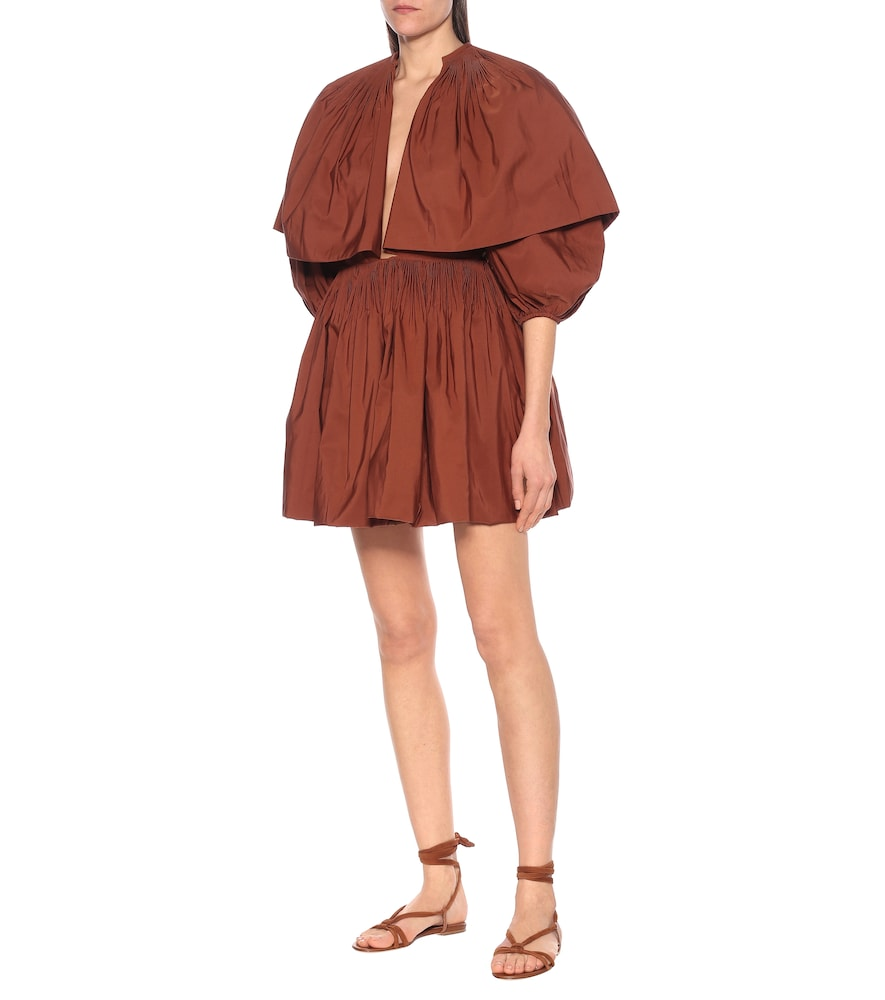 Cotton-blend faille minidress by Valentino