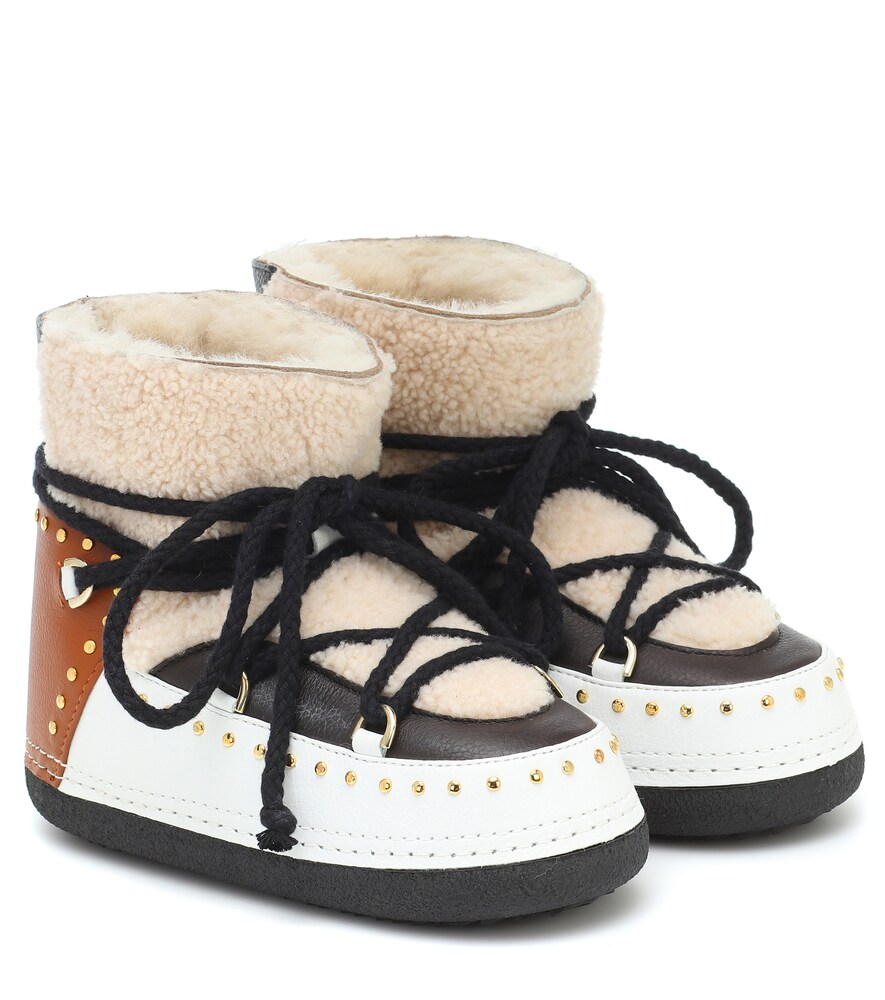 Inuikii CURLY ROCK SHEARLING AND LEATHER BOOTS
