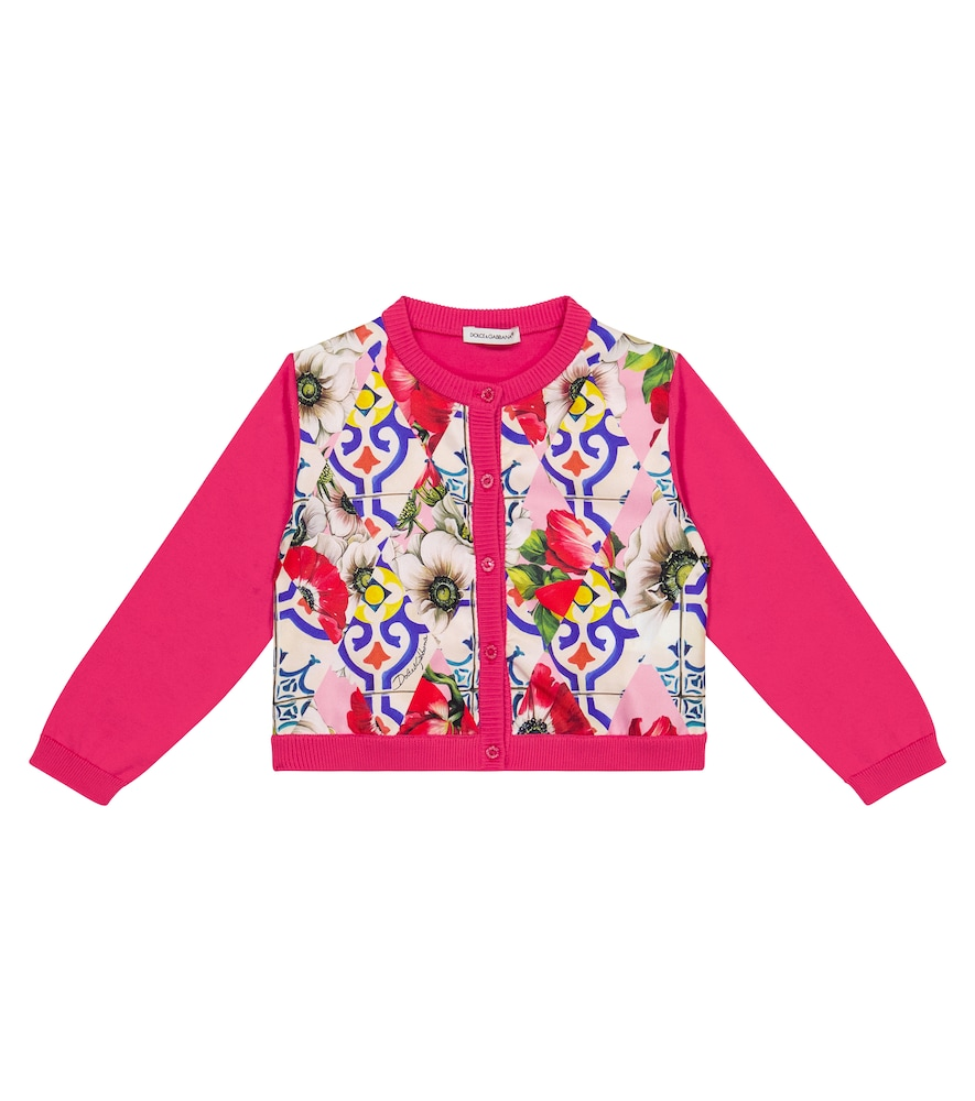 Dolce & Gabbana Cottons BABY PRINTED COTTON AND SILK CARDIGAN