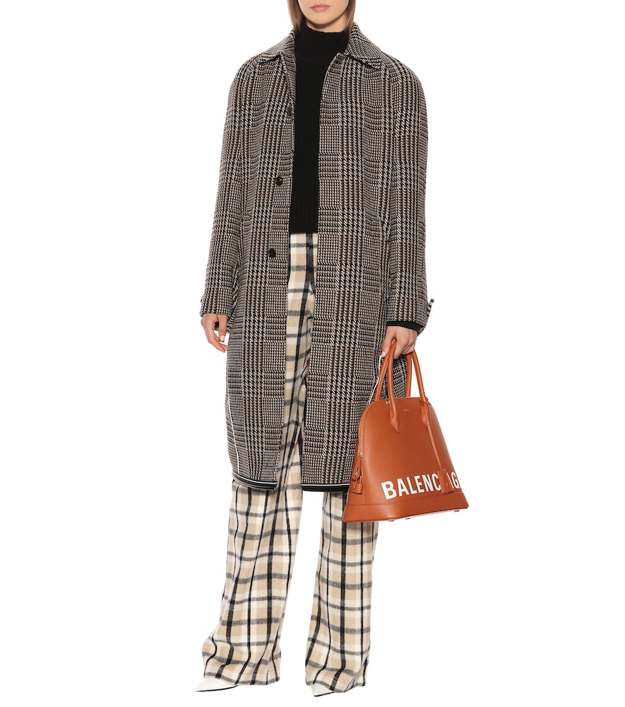 Houndstooth wool-blend coat by Balenciaga