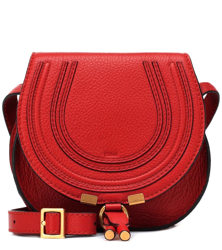 Marcie Small Leather Shoulder Bag, Female