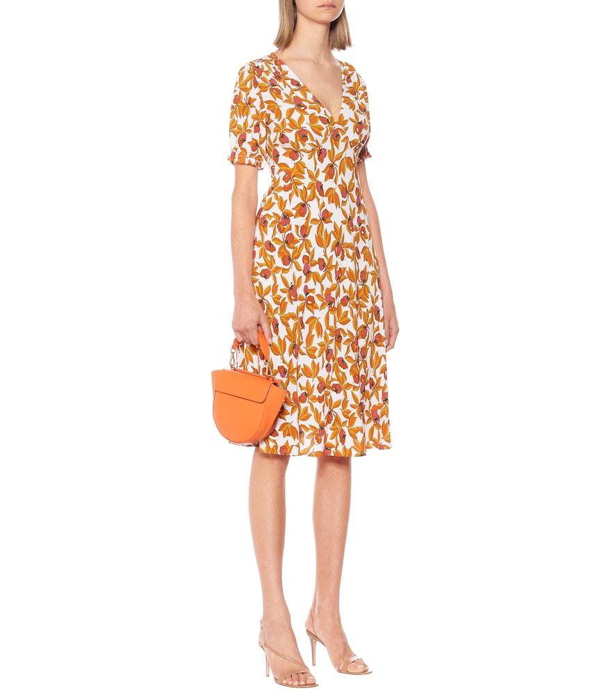 Idris floral crêpe midi dress by Diane von Furstenberg