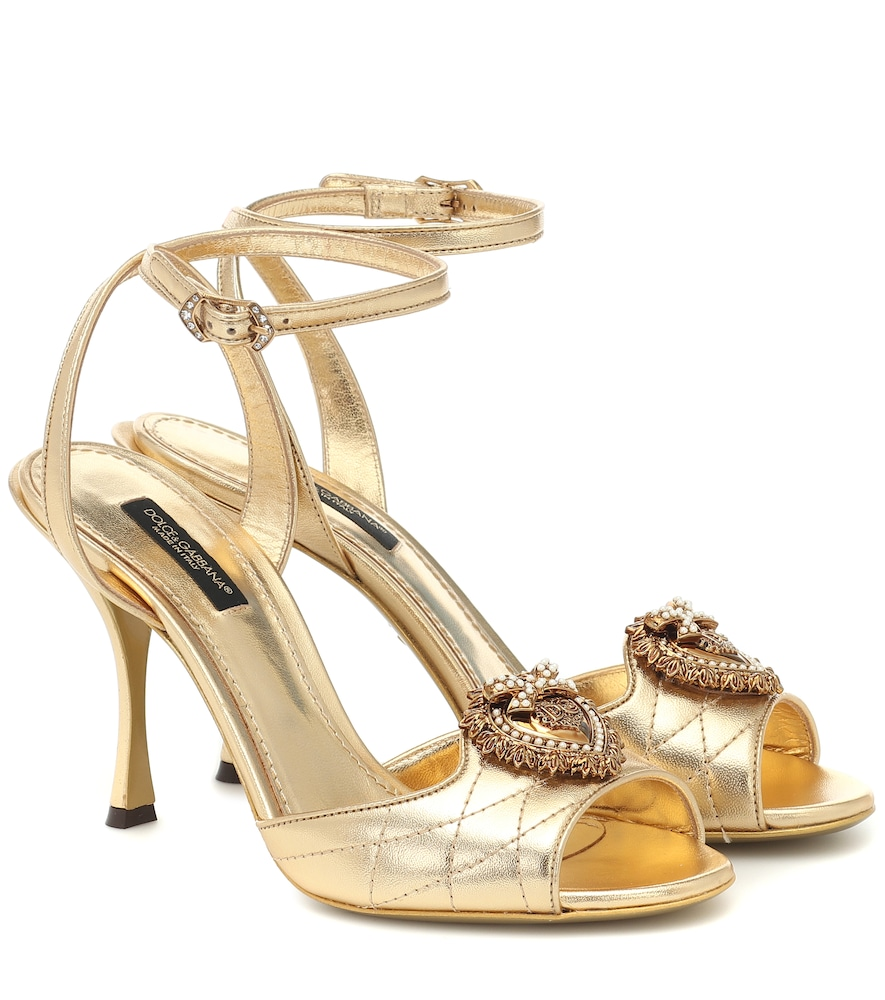 Devotion metallic leather sandals