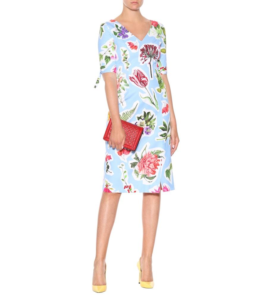 Floral cotton-blend dress by Carolina Herrera