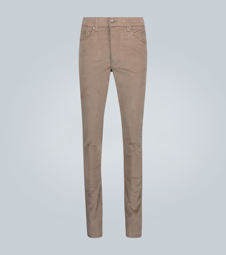 Amiri Cropped jeans SKINNY-FIT VELOUR STACK PANTS