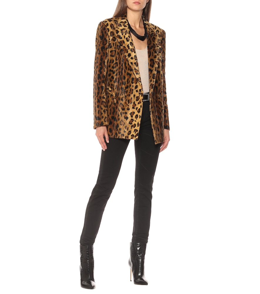 Everyday leopard-print velvet blazer by Blazé Milano