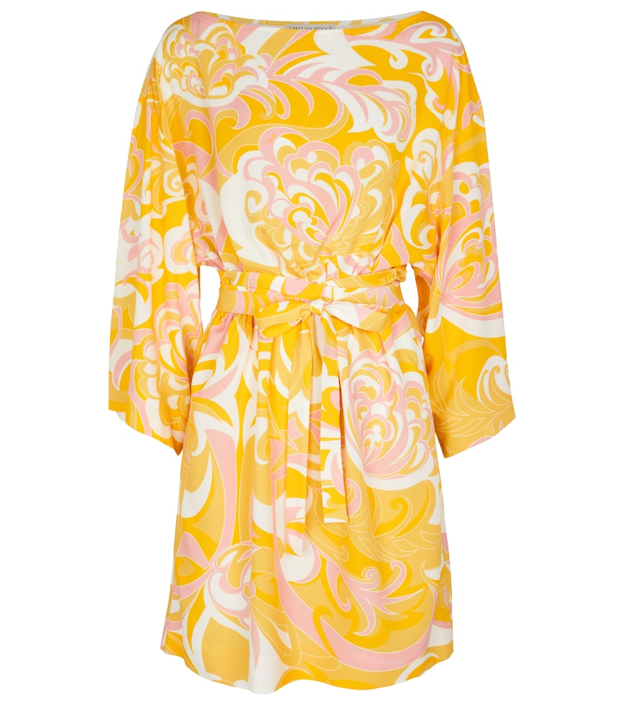 Long-sleeved mini dress