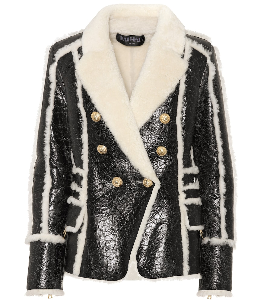 Shearling-lined leather jacket