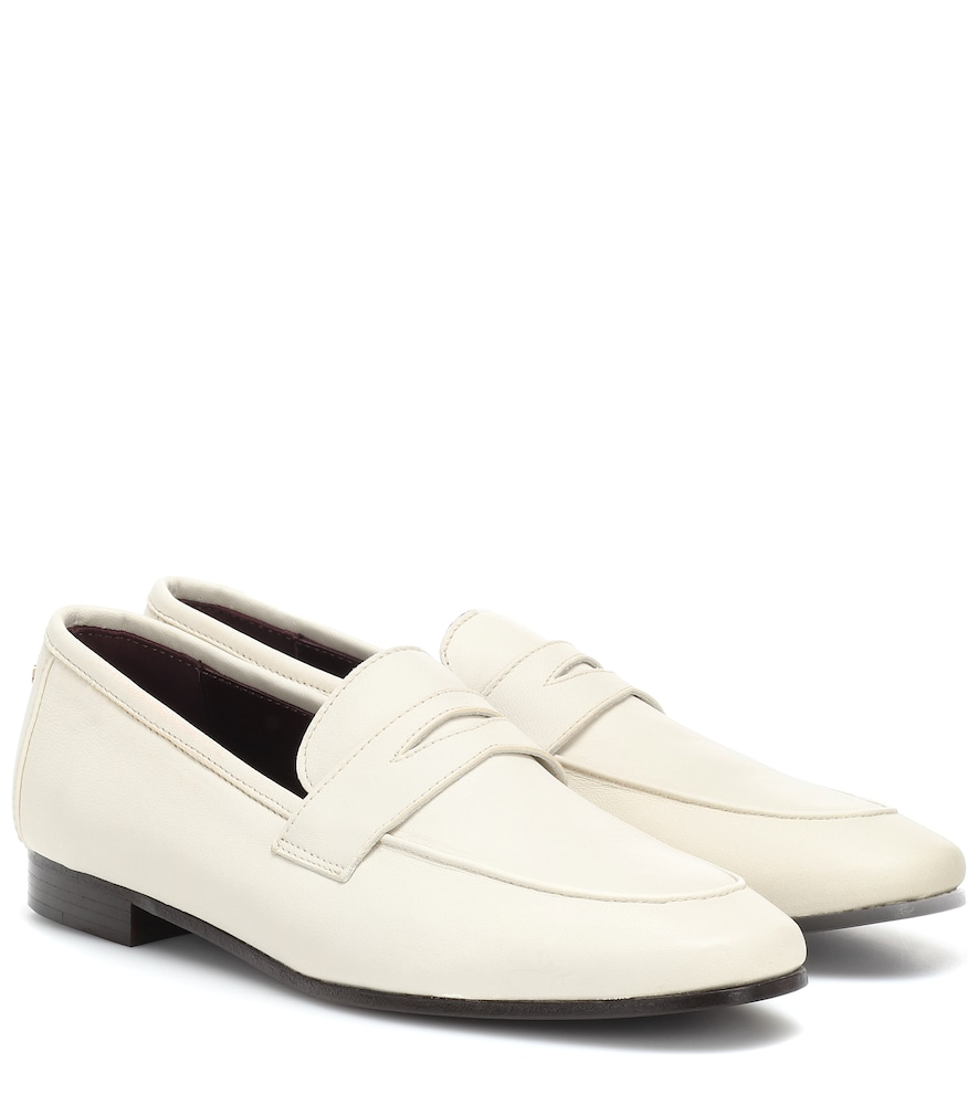 BOUGEOTTE Leather Loafers in White