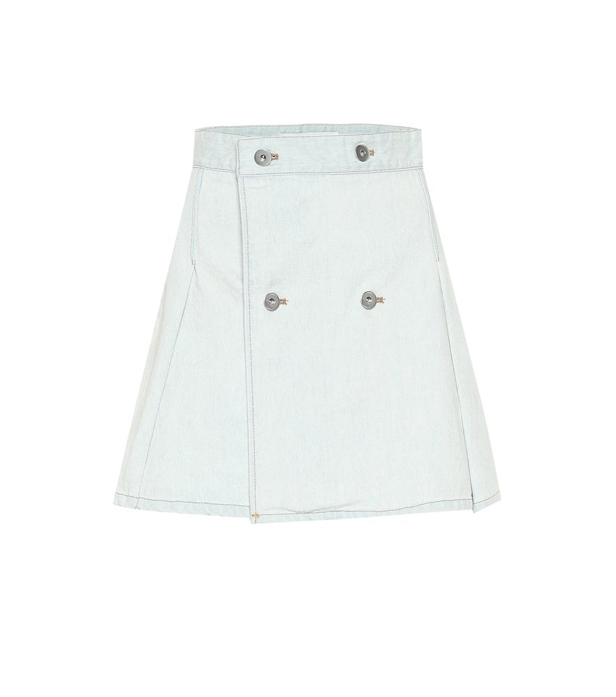Mini-jupe portefeuille en jean